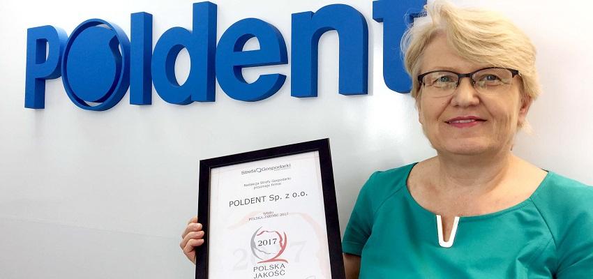 Firma Poldent uhonorowana Nagrodą Polska Jakość 2017