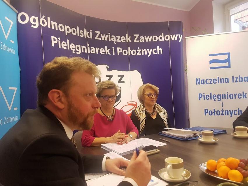 Minister zdrowia Łukasz Szumowski spotkał się z rezydentami