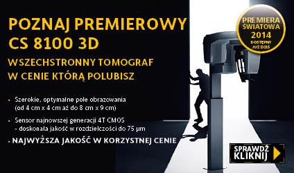 Premiera tomografu 3D CS 8100