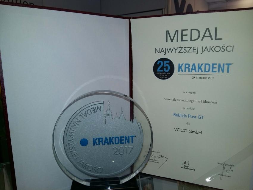 Voco nagrodzone Medalem Najwyższej Jakości za Rebilda Post GT