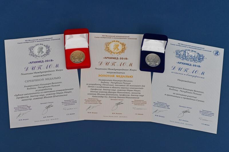Implanty z Bydgoszczy nagrodzone na targach w Moskwie