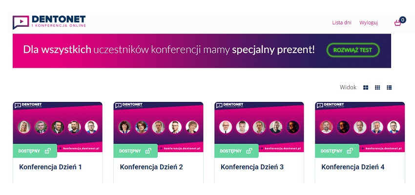 Trzeci dzień I Konferencji Dentonet Online. Wciąż możesz dołączyć!