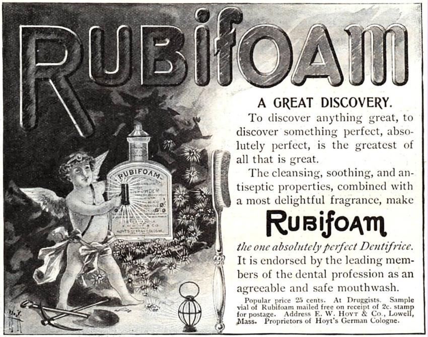 Zęby jak perły, czyli piękno starej prasowej reklamy
