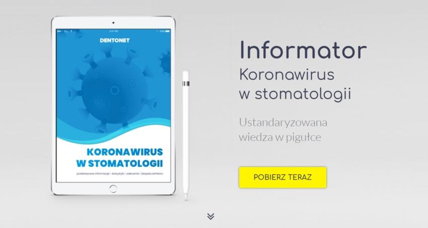 """Pobierz informator """"Koronawirus w stomatologii"""""""
