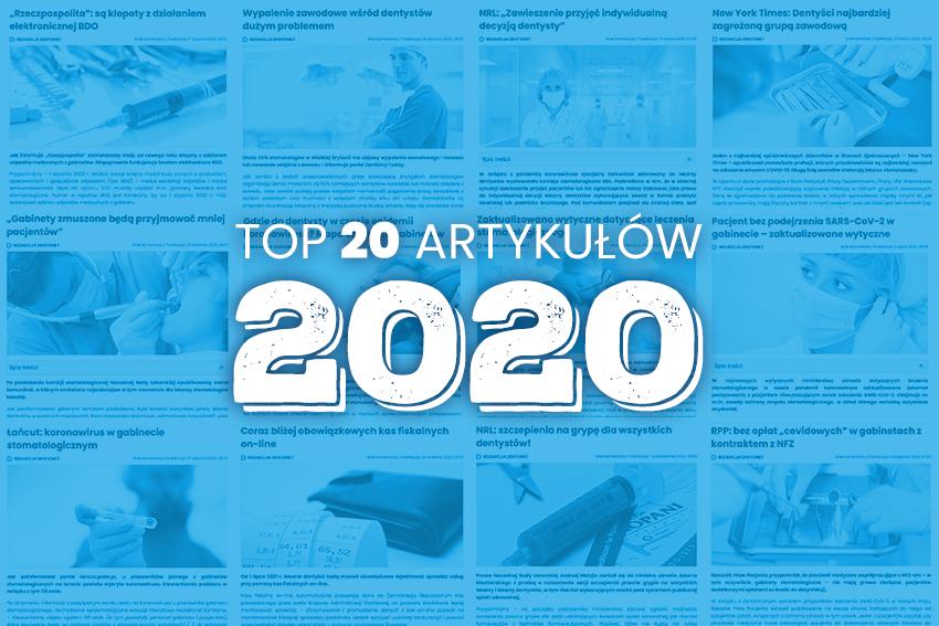 Tym żyła polska stomatologia w 2020 roku! 20 najchętniej czytanych artykułów