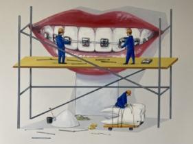 Praca dla lekarza dentysty w nowoczesnym gabinecie stomatologicznym