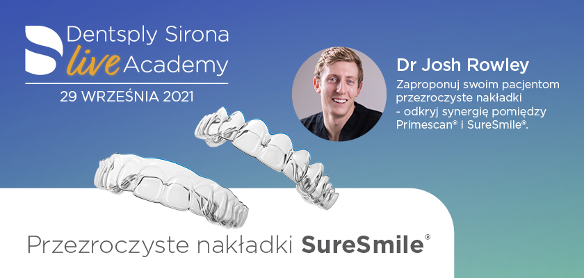 SureSmile® – nowy wymiar alignerów. Weź udział w webinarze!